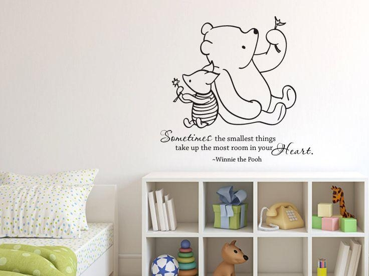 18 Best Nursery Images On Pinterest | Nursery Ideas, Babies Throughout Winnie The Pooh Nursery Quotes Wall Art (Image 1 of 20)