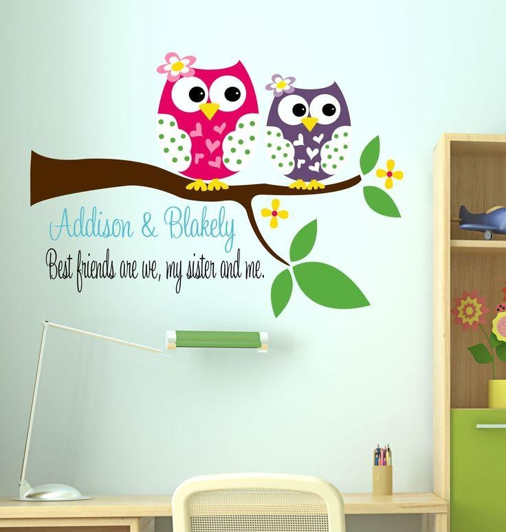 182 Best Owl Nuersery Images On Pinterest | Babies Nursery, Baby In Owl Wall Art Stickers (View 9 of 20)