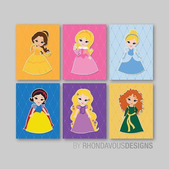 183 Best Wall Art – Oh So Cute! Images On Pinterest | Bedroom Regarding Disney Princess Wall Art (View 15 of 20)