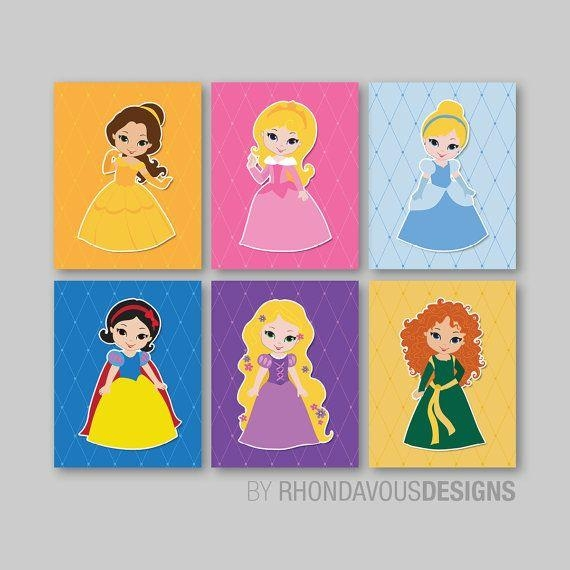 183 Best Wall Art – Oh So Cute! Images On Pinterest | Bedroom Throughout Disney Princess Framed Wall Art (Image 2 of 20)