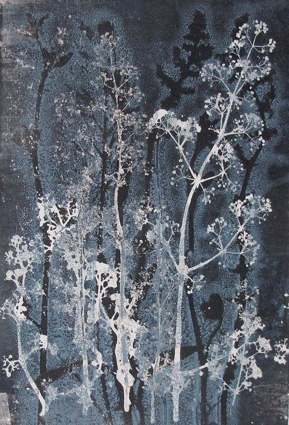 184 Best Aquatint Mezzotint Monotype Images On Pinterest Regarding Blue And Cream Wall Art (Image 5 of 20)