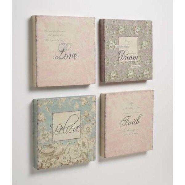 186 Best Wall Art! ♡ Images On Pinterest | Architecture, Frames Pertaining To Shabby Chic Canvas Wall Art (View 4 of 20)