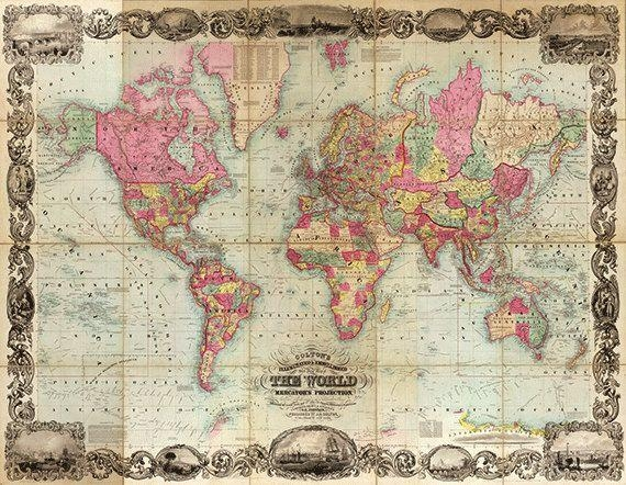 19 Best Maps Images On Pinterest | Vintage Maps, Antique Maps And Inside Antique Map Wall Art (Image 4 of 20)