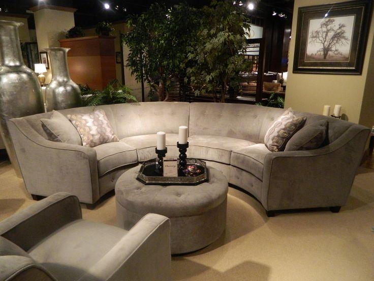 197 Best Curved Sectional Sofa Images On Pinterest | Sectional Inside Semi Circular Sectional Sofas (Image 1 of 20)