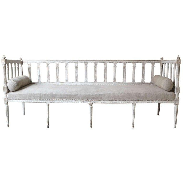 19Th Century Swedish Gustavian Style Sofa At 1Stdibs Regarding Bench Style Sofas (Image 1 of 20)