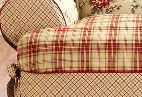 2 Piece T Cushion Sofa Slipcover – Cybellegear In T Cushion Slipcovers For Large Sofas (Image 2 of 20)