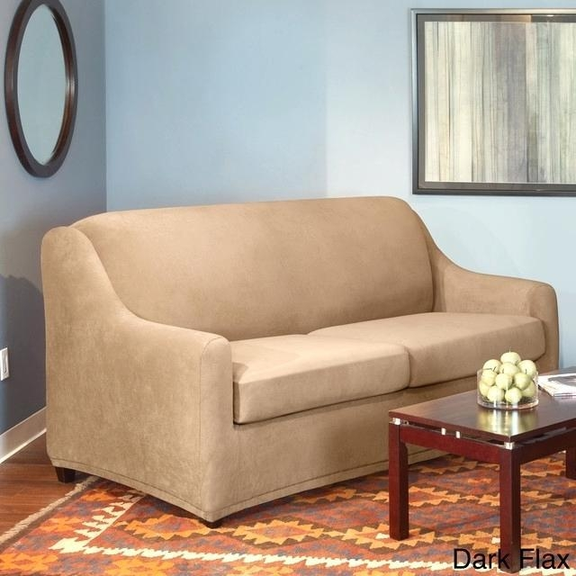 2 Piece T Cushion Sofa Slipcover – Cybellegear Throughout T Cushion Slipcovers For Large Sofas (Image 4 of 20)