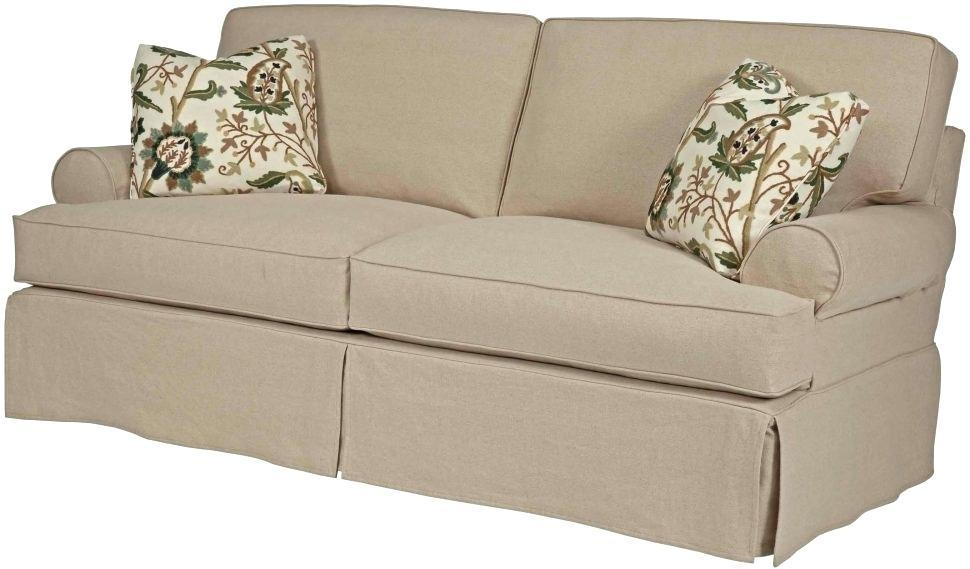 2 Piece T Cushion Sofa Slipcover – Cybellegear Throughout T Cushion Slipcovers For Large Sofas (Image 3 of 20)