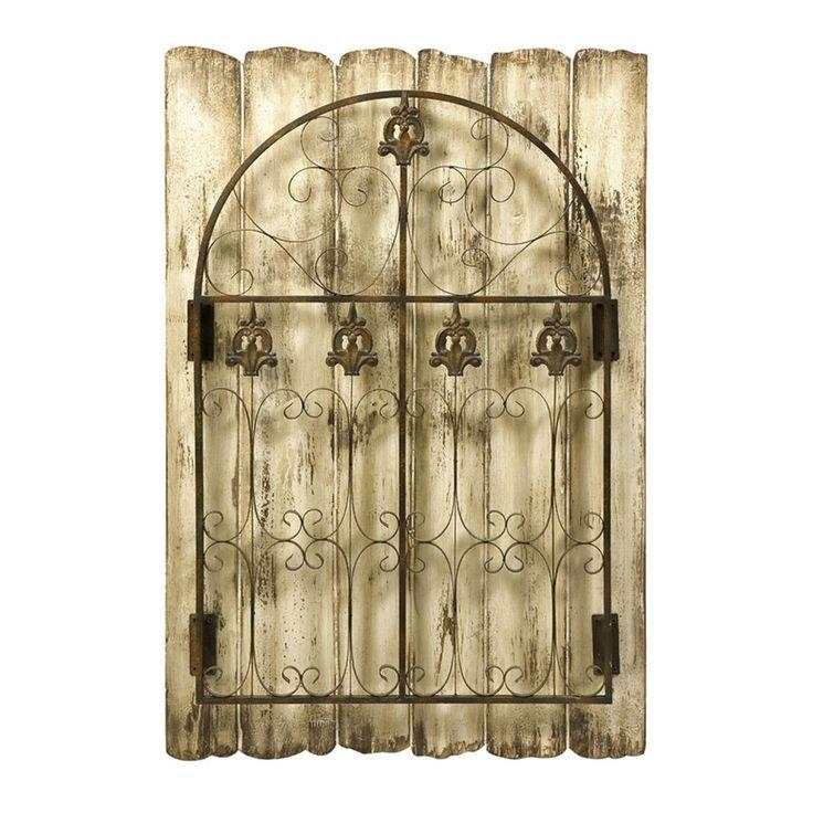 20 Best Outdoor Wall Art Images On Pinterest | Outdoor Walls Intended For Metal Gate Wall Art (Image 3 of 20)