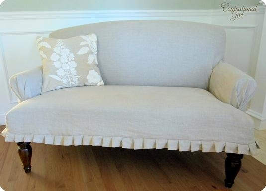 20 Diy Slipcovers With Regard To Slip Covers For Love Seats (Image 1 of 20)