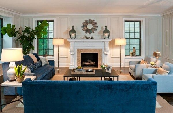 20 Impressive Blue Sofa In The Living Room | Home Design Lover In Living Room With Blue Sofas (View 4 of 20)