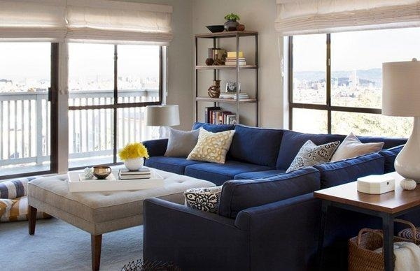 20 Impressive Blue Sofa In The Living Room | Home Design Lover Pertaining To Living Room With Blue Sofas (View 2 of 20)