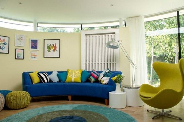 20 Impressive Blue Sofa In The Living Room | Home Design Lover With Living Room With Blue Sofas (Image 4 of 20)