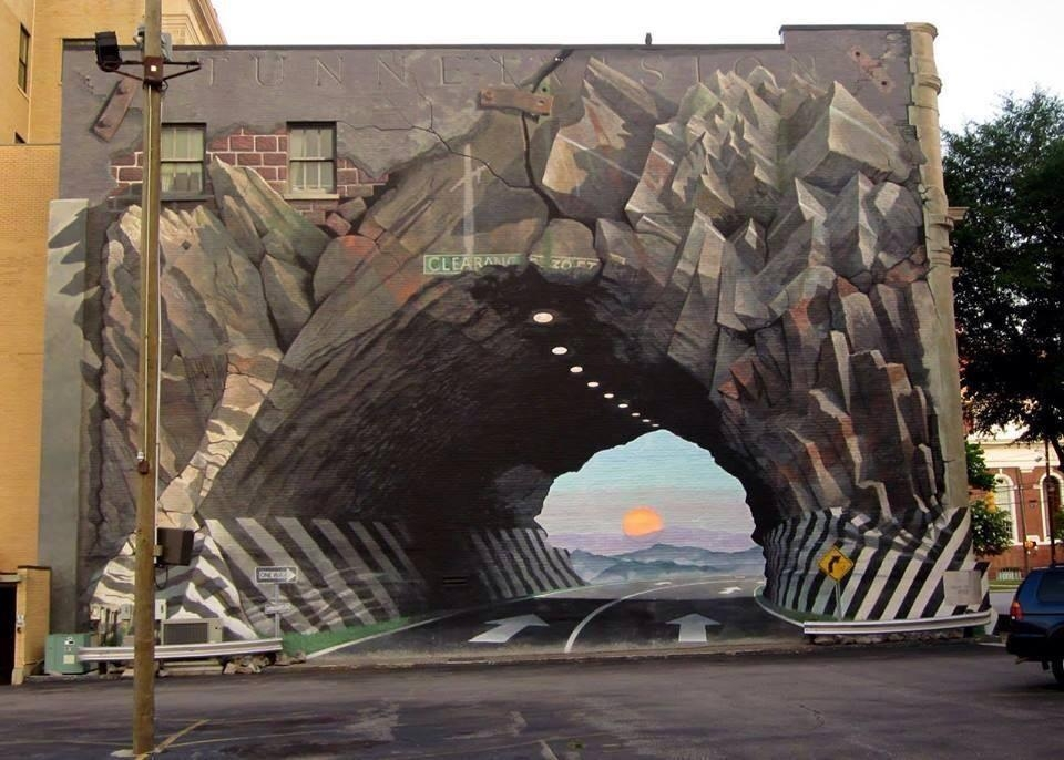 20 Street Art Illusions That Will Break Your Mind – Add More Colors Regarding Illusion Wall Art (Image 1 of 20)