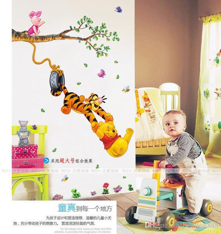 2015 Hot Baby Room Winnie The Pooh Wall Sticker Vinyl Decal Kids In Winnie The Pooh Wall Art (View 15 of 20)