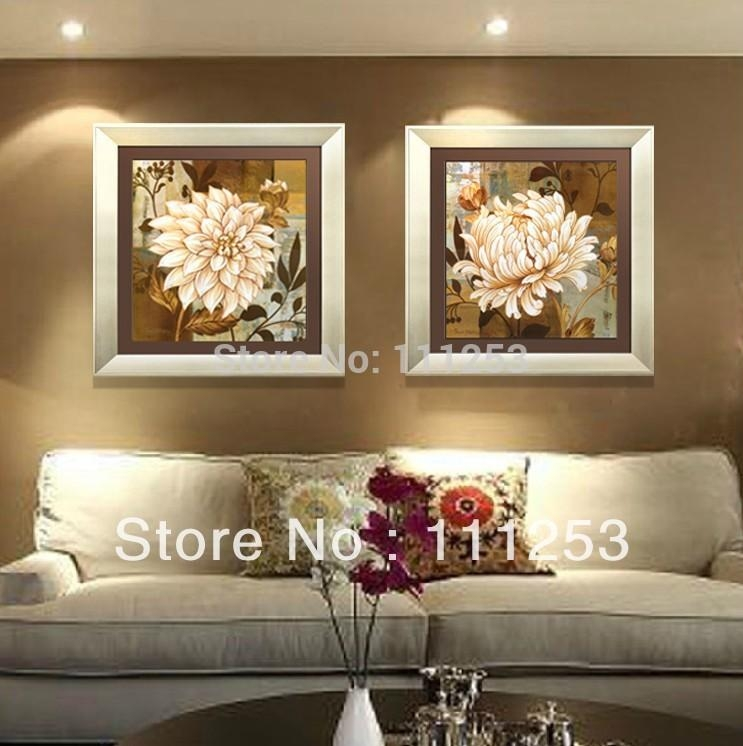 2016 Home Decor Framed Wall Art 100% Hand Painted High End Amazing Intended For Brown Framed Wall Art (Image 1 of 20)