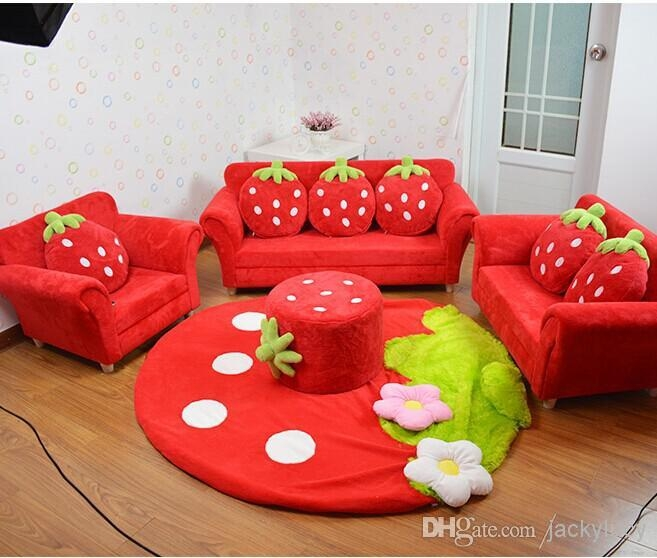 2017 Coral Velvet Children Sofa Chairs Cushion Furniture Set Cute For Childrens Sofa Chairs (Image 1 of 20)