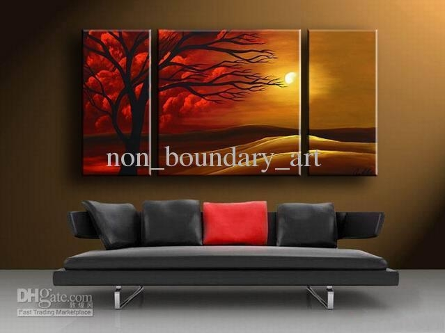 2017 Framed Oil Wall Art,dec Sunset Art,wall Canvas Art,modern Pertaining To Cheap Modern Wall Art (Image 2 of 20)