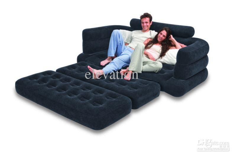 2017 Inflatable Pull Out Sofa & Queen Bed Mattress Sleeper Intended For Intex Inflatable Sofas (View 17 of 20)