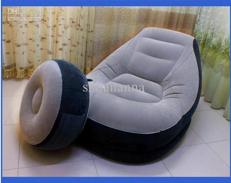 2017 Intex Elegant Thickened Inflatable Sofa Armchair With An Air Within Intex Air Couches (Image 1 of 20)