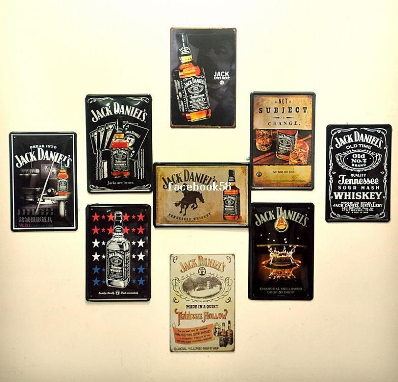 2017 Jack Daniel Bar Dining Room Wall Art Vintage Style Metal Within Vintage Style Wall Art (View 7 of 20)