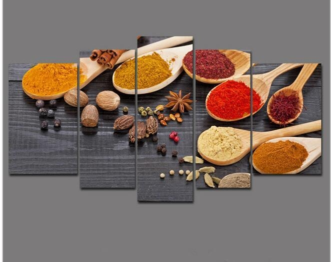 2017 Kitchen Spices Oil Painting Wall Art Picture Modern Home With Regard To Cucina Wall Art Decors (View 17 of 20)