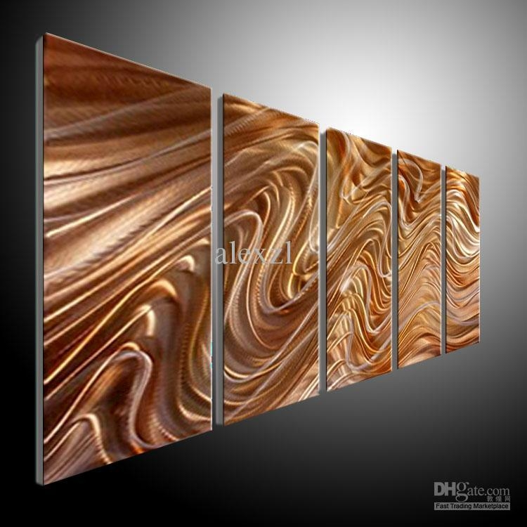 2017 Metal Wall Art Abstract Contemporary Sculpture Home Decor Inside Contemporary Metal Wall Art Sculpture (Image 5 of 20)