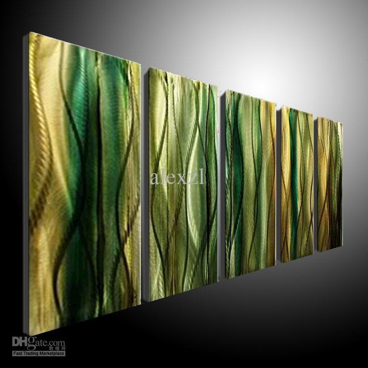 2017 Metal Wall Art Abstract Contemporary Sculpture Home Decor With Regard To Cheap Modern Wall Art (Image 3 of 20)