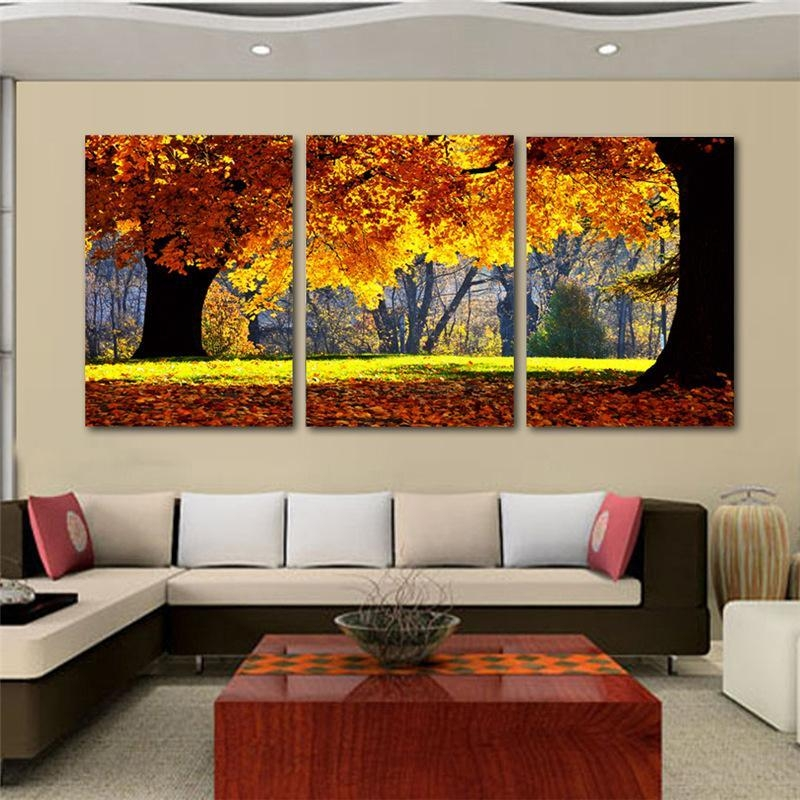 2017 Nature Canvas Art Painting Scenery Pattern For Living Room Intended For Cheap Wall Canvas Art (Image 4 of 20)