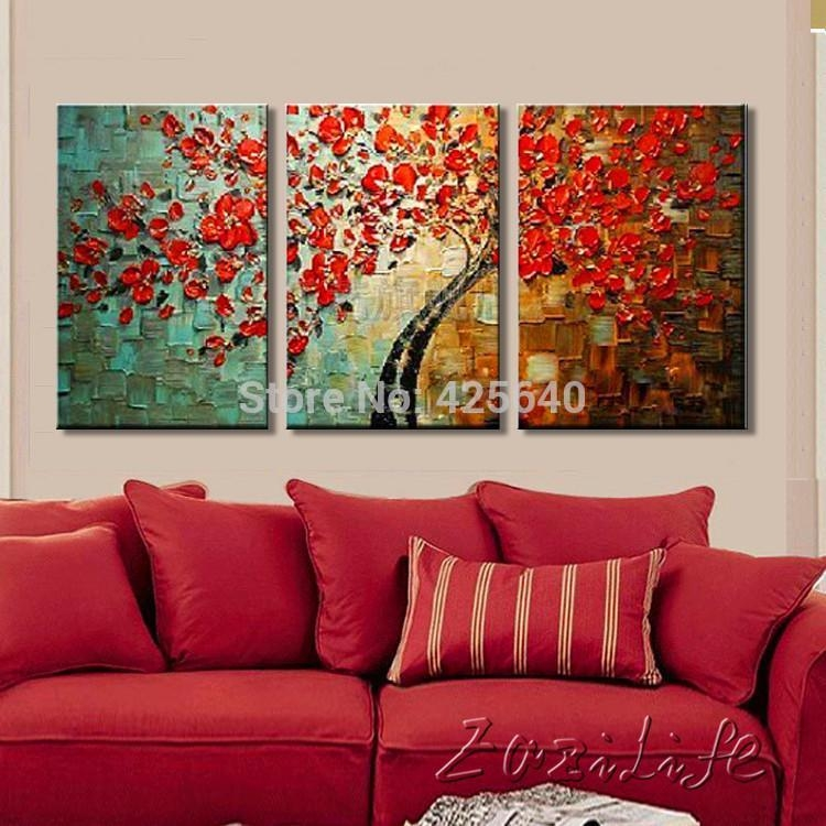 2017 Oil Painting On Canvas Wall Paintings For Living Room Multi Pertaining To Multi Canvas Wall Art (Image 2 of 20)
