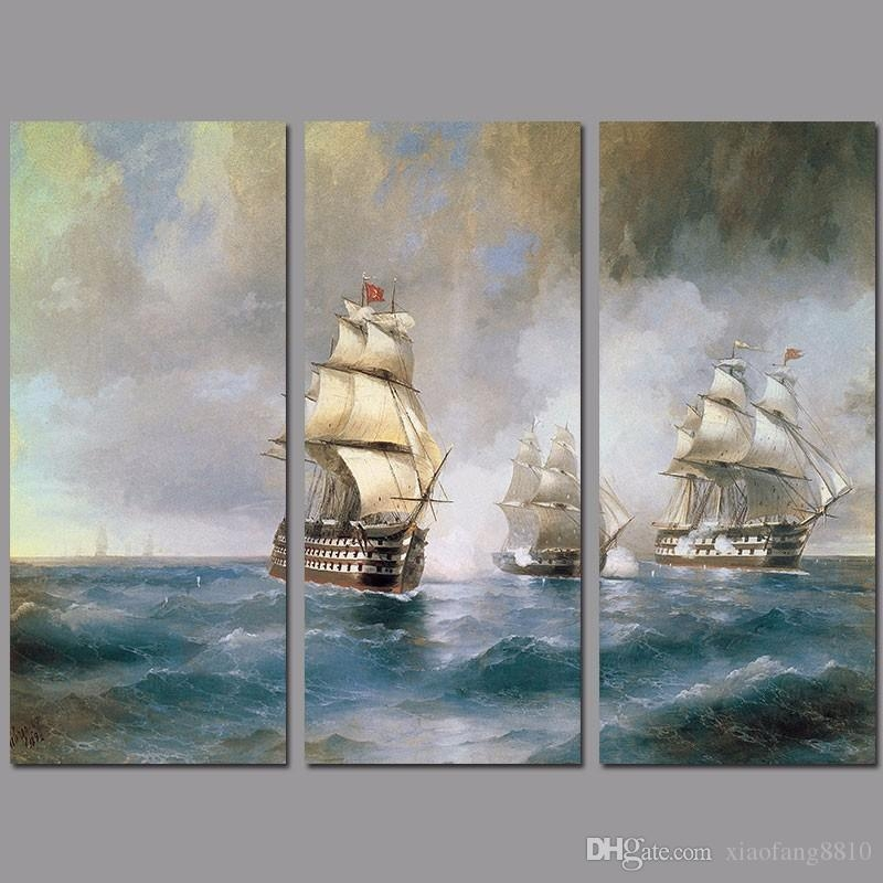 2017 Retro Fashion Sail Boat Decoration Sea Wall Art Picture Intended For Boat Wall Art (View 16 of 20)