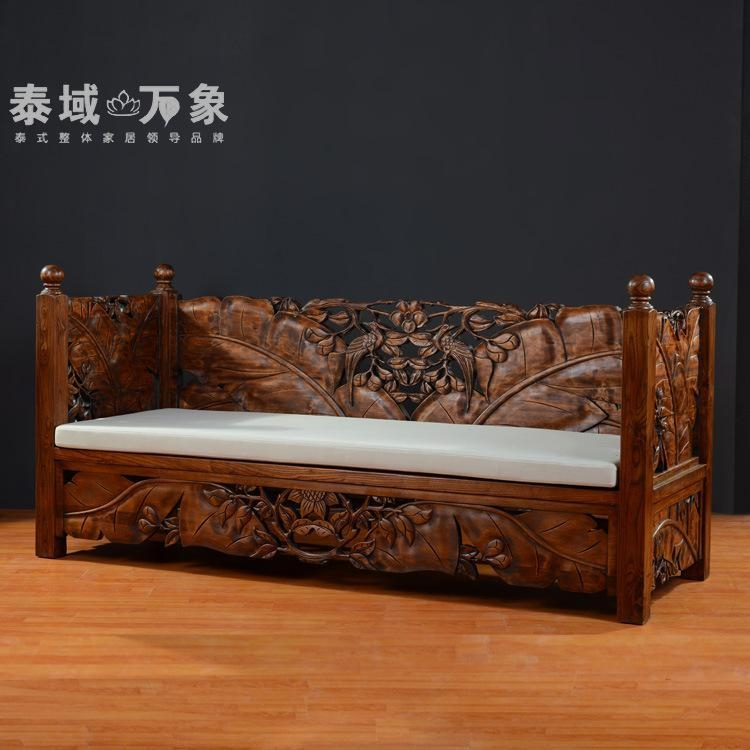 2017 Thai Wood Sofa At Home In Southeast Asia Thai Carved Wood For Carved Wood Sofas (Image 1 of 20)