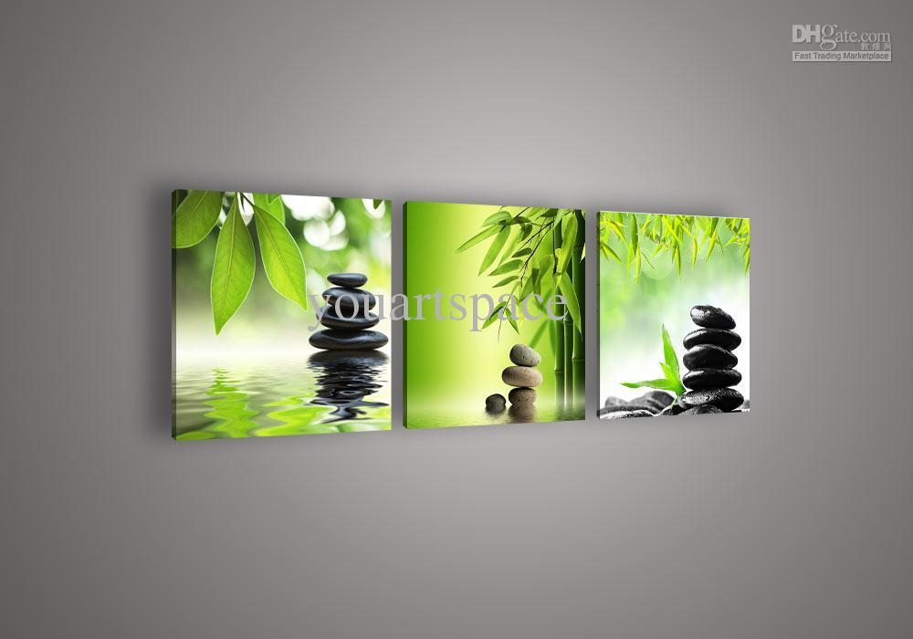 2017 Wall Art Picture Botanical Feng Shui Green Picture Oil For Feng Shui Wall Art (View 15 of 20)