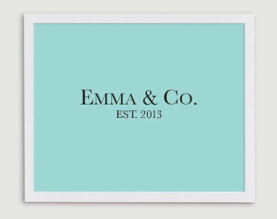 204 Best Tiffany And Company Baby Shower Images On Pinterest For Tiffany And Co Wall Art (Image 2 of 20)