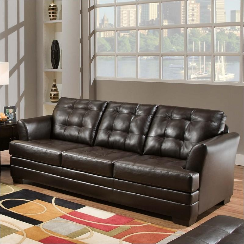 2055 Manhattan Espresso Sofasimmons Upholstery And Casegoods With Regard To Simmons Sofas And Loveseats (Image 1 of 20)