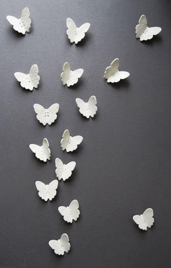21 Best Ceramic Butterflies Images On Pinterest | Pottery Ideas Inside Ceramic Bird Wall Art (Image 2 of 20)
