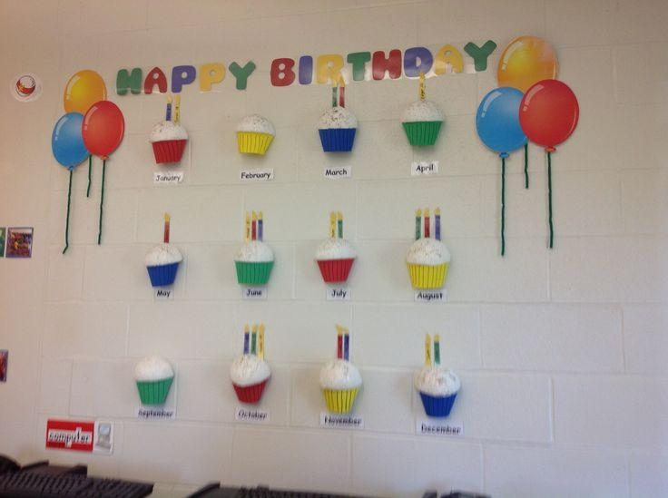 21 Best Classroom Ideas We've Used Images On Pinterest | Classroom Inside Happy Birthday Wall Art (Image 4 of 20)