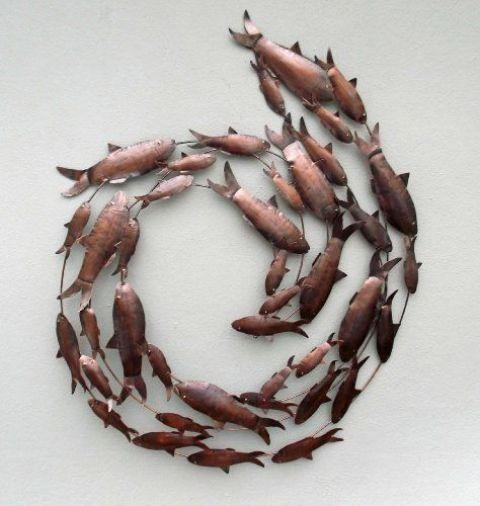 21 Creative Wall Art Ideas To Spruce Up Your Space – Shelterness Pertaining To Fish Shoal Wall Art (View 11 of 20)