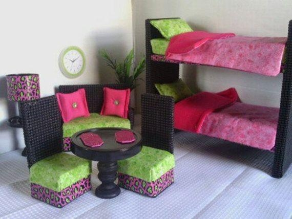 211 Best Barbie Images On Pinterest | Dollhouse Furniture With Regard To Barbie Sofas (Image 2 of 20)