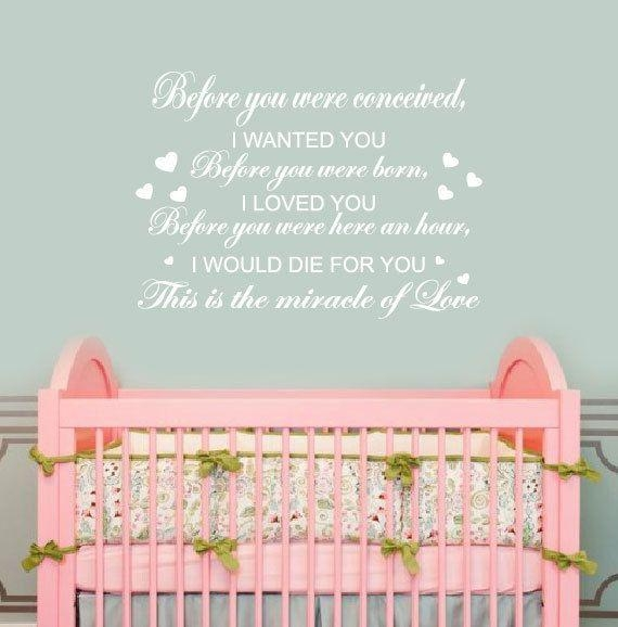 211 Best Wall Decals For The Nursery Images On Pinterest | Vinyl For Baby Wall Art (Image 1 of 20)