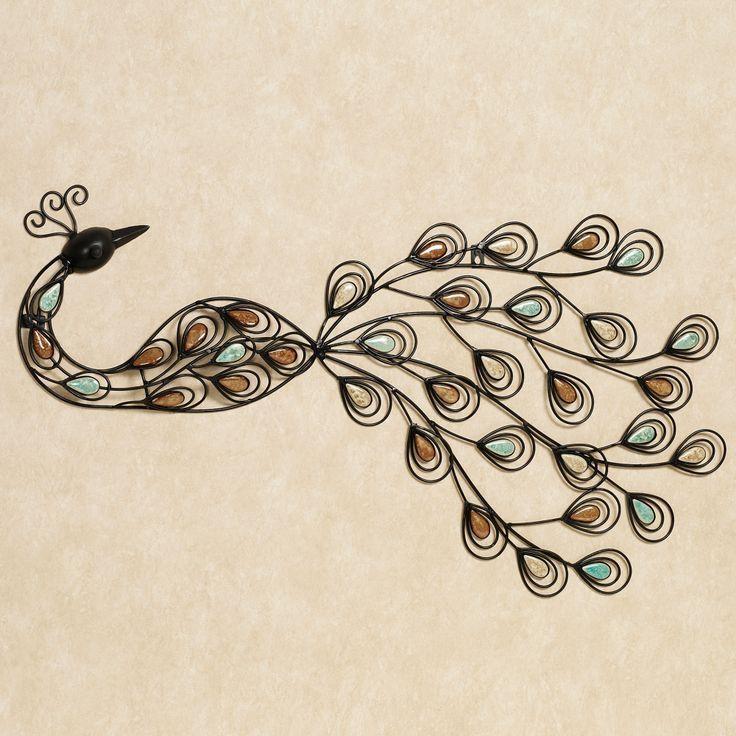 213 Best Peacock Metal Art Images On Pinterest | Metal Art For Metal Peacock Wall Art (View 10 of 20)