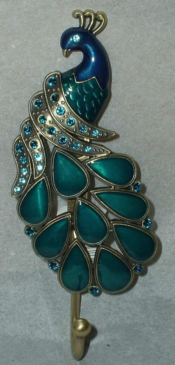 Featured Image of Jeweled Peacock Wall Art