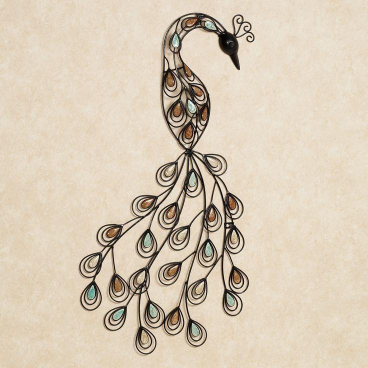 213 Best Peacock Metal Art Images On Pinterest | Metal Art With Metal Peacock Wall Art (View 7 of 20)