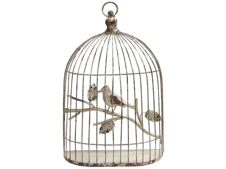 215 Best Bird & Birdcage Cage Motif Images On Pinterest For Metal Birdcage Wall Art (View 12 of 20)