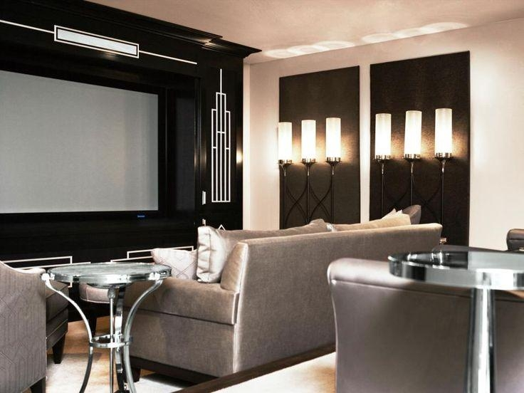 218 Best Home Theatre Images On Pinterest | Media Rooms, Media Inside Media Room Wall Art (Image 5 of 20)