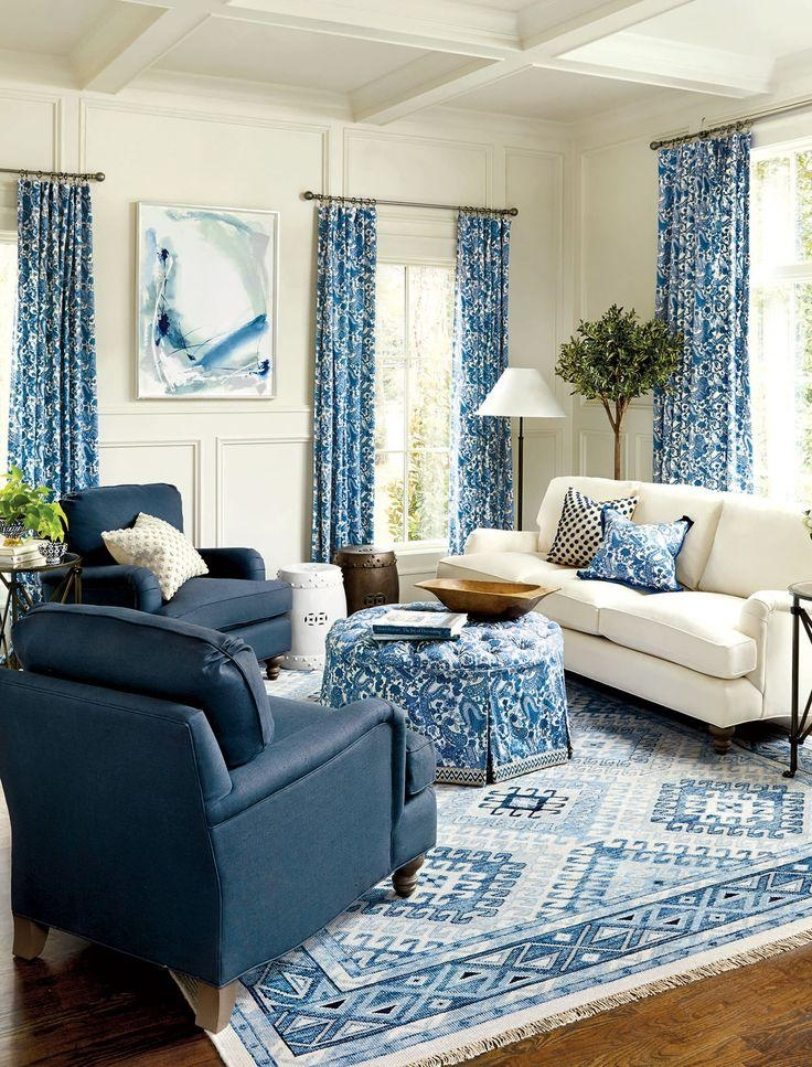 218 Best Roomscolor: Blue And White Images On Pinterest | Blue In Blue And White Sofas (View 5 of 20)