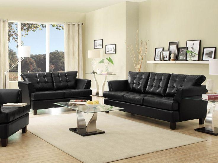 22 Best Black Living Room Furniture Images On Pinterest | Living Throughout Black Sofas For Living Room (Image 2 of 20)