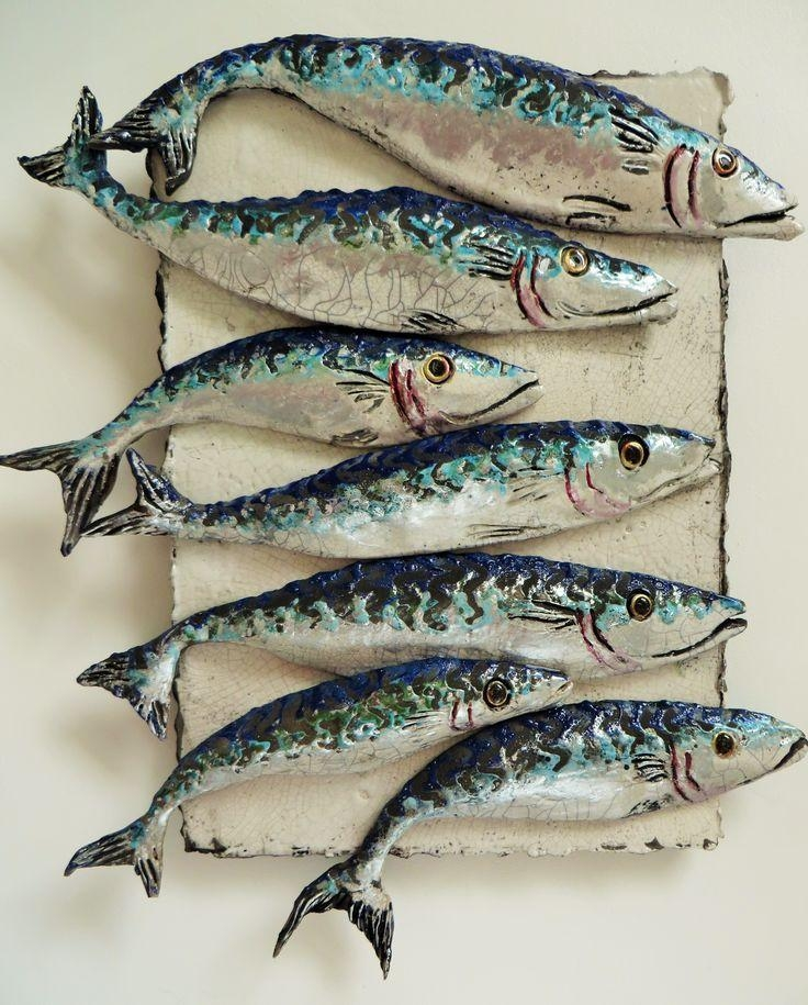 22 Best Fish 3D Ceramic Art Images On Pinterest | Ceramic Art Intended For Fish Shoal Wall Art (View 13 of 20)
