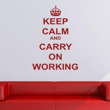 22 Best Office Wall Stickers Images On Pinterest | Wall Sticker Throughout Keep Calm And Carry On Wall Art (Image 3 of 20)