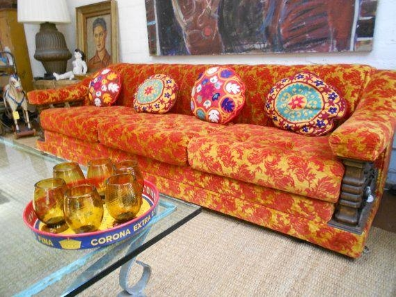 22 Best Vintage Items Images On Pinterest | Vintage Items, Serving With Regard To Brocade Sofas (Image 3 of 20)
